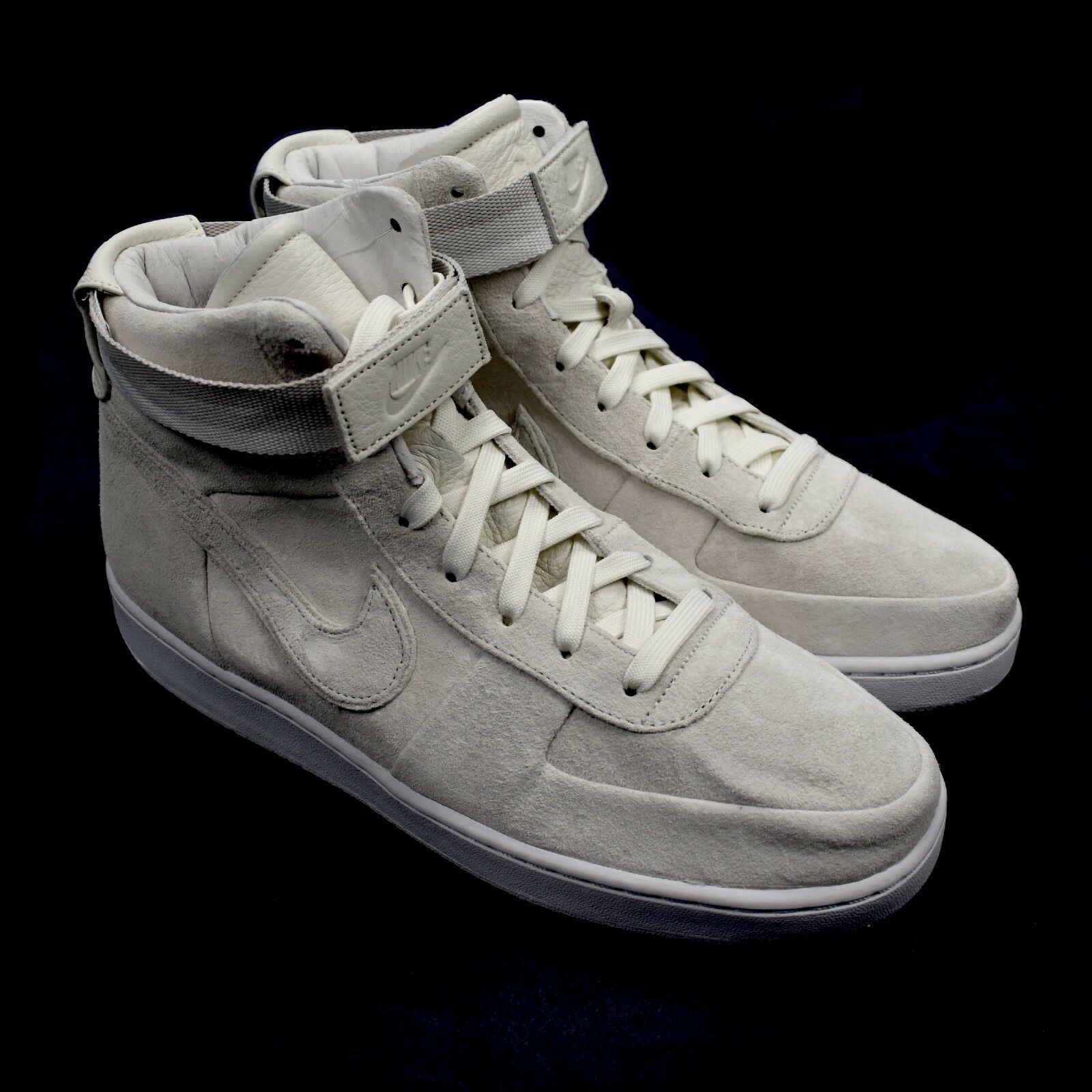 NWT Nike John Elliott Men's White Vandal High PRM Sail White Men's Suede Sneakers AUTHENTIC 1091b7