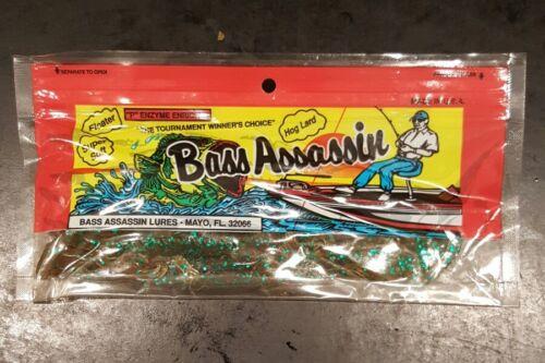 """7/"""" Lizard Gourd Green 10PK Bass Assassin"""