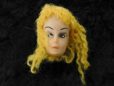 Bellissimo Mattel, Barbie, Bambole Barbie Accessori, Testa Barbie Per, Capelli Giallo 1960er,-mostra Il Titolo Originale Alleviare I Reumatismi