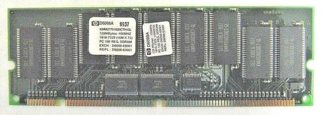 Ram 128Mb 168 pin PC100  KMM377S1620CTH-GL