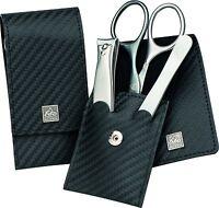 Becker-manicure Erbe Solingen 3 Pcs Set Manicure Case Series Carbon