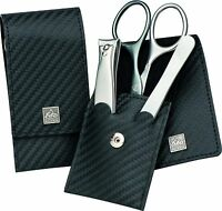 Becker-manicure Erbe Solingen 3 Pcs Set Manicure Case Series Carbon
