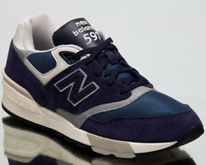 detailing 0cd17 14d78 New Balance 597 Lifestyle Shoes Pigment Grey New Men Low Top ...