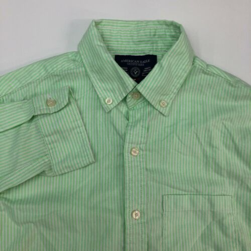 American Eagle Button Up Shirt Mens XS Lime Green