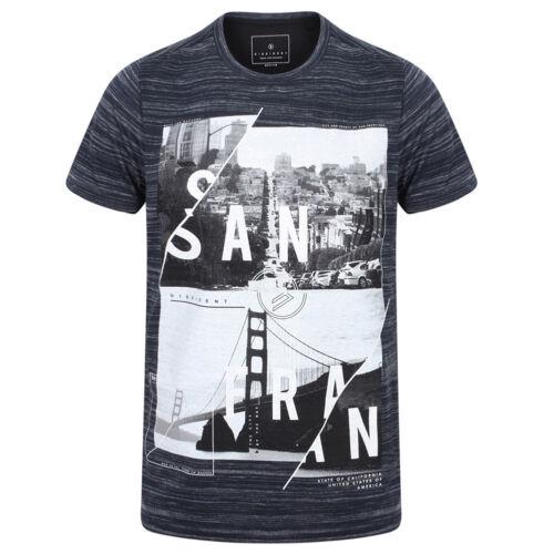DNM Dissident San Fran Split T-SHIRT Hommes été motif tee shirt 1c10654 NEUF