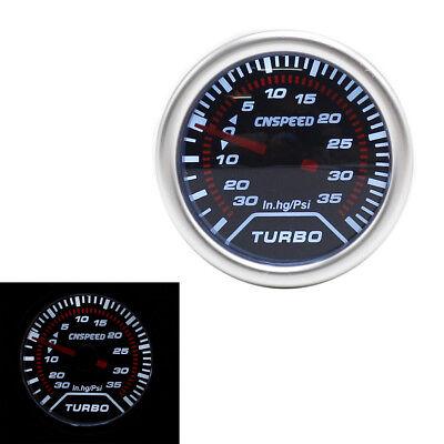 52mm GlowShift Black 7 Color 35 PSI Turbo Boost Gauge GS-C701-35