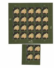 TIFFANY LAMP US 2008 Scott #3749A AMERICANA 1c MVF PLATE BLOCK + 20 Stamp Sheet