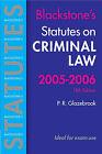 Statutes on Criminal Law: 2005-2006 by Peter Glazebrook (Paperback, 2005)