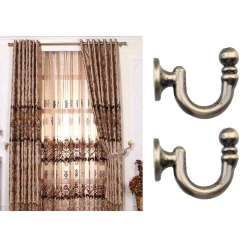 2x Metall Raffhalter Vorhang Haken Halter Wand Wohnzimmer Dekoration Bronze
