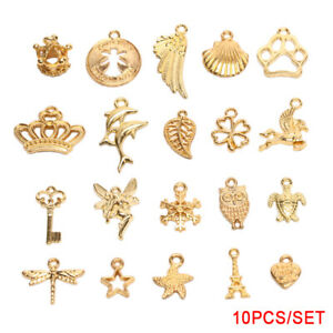 10Pcs-Set-Vintage-Gold-Alloy-Animal-Shell-Charms-DIY-Pendants-Jewelry-FindinAB