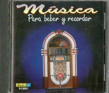 Musica Para Beber Y Recordar Latin Music CD
