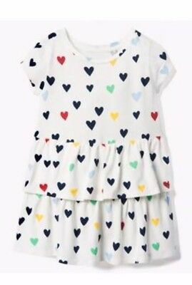 Nwt Gymboree Girls Long Sleeve Knit Hearts Stripe Blue Pink Mint Dress 2t