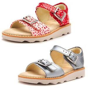 d6c36cddc0a Image is loading Clarks-Crown-Bloom-Toodler-Leather-Strappy-Buckle-Sandals-