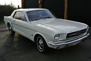 1964 ford mustang v8 white auto project classic american