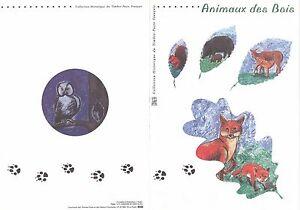 Document-Philatelique-Timbre-1er-Jour-21-04-2001-Animaux-des-Bois