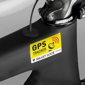 2x anti theft bicycle sticker gps secured lock tracking. Black Bedroom Furniture Sets. Home Design Ideas