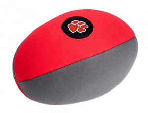 100% De Qualité Outdoor Pattes Rouge Gris Aqua Ballon De Rugby Chien Puppy Fun Water Land Squeaky Jouer Jouet-afficher Le Titre D'origine