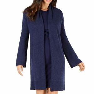 MICHAEL-KORS-Women-039-s-Wool-Blend-Open-front-Long-Cardigan-Sweater-TEDO