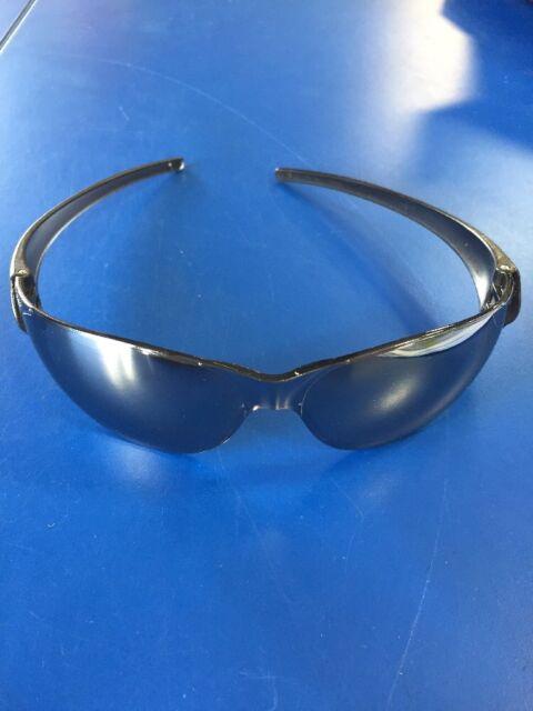 5272972ceb2 Crews CK117 Safety Glasses 3 - PAIR - Black Frame w Silver Mirror Lens AA