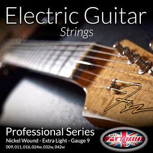 New-Extra-Light-ADAGIO-ELECTRIC-GUITAR-Strings-Set-9-42-Nickel-Wound-Full-Set
