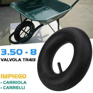 Camera d'aria per ruota carriola modello Vespa 3.50 - 8 Rinforzata valvola tr413