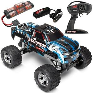 Traxxas-36054-1-Stampede-XL-5-2WD-RTR-RC-Truck-w-Battery-amp-Quick-Charger-BLUE