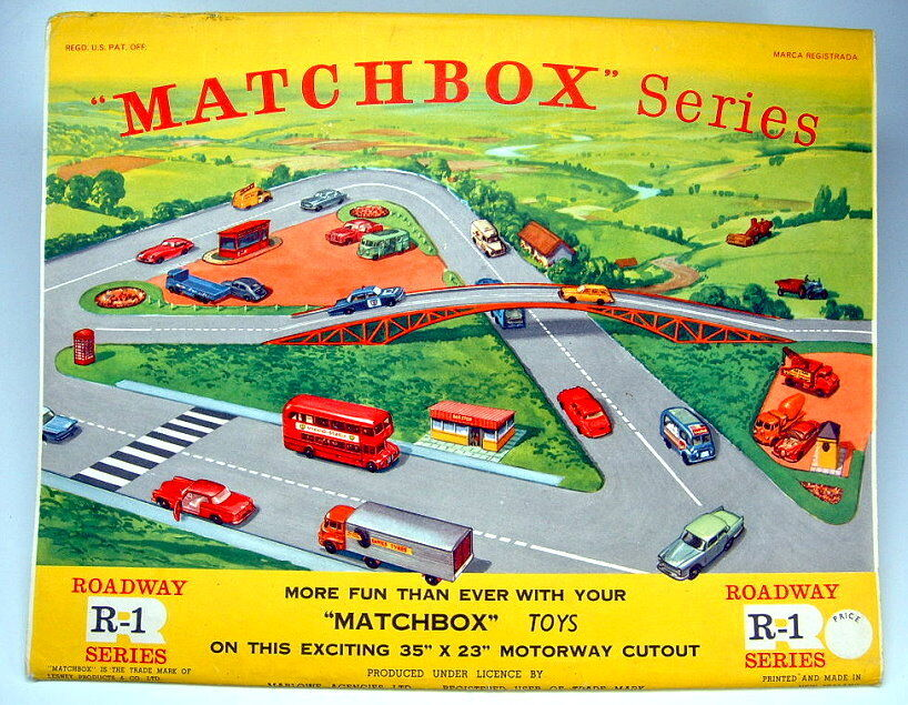MATCHBOX r-1c Roadway layout 1964 made in New Zealand