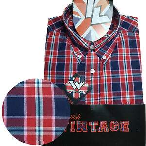 Warrior-UK-England-Button-Down-Shirt-RUDY-Hemd-Slim-Fit-Skinhead-Mod
