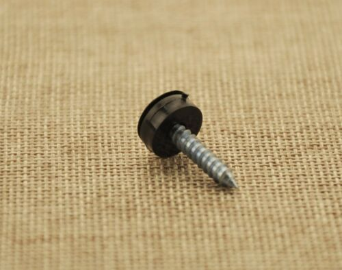 TOYOTA NUMBER PLATE SELF TAPPING SCREWS AND BLACK CAPS FIXING KIT x 10