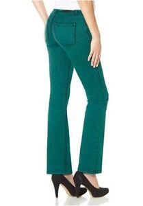 Details zu Arizona Jeans K Gr.17 18 Damen Hose PetrolGrün Flare Stretch Denim Bootcut L30