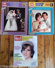LADY DI DIANA MARIAGE ROYAL 1981 PARIS MATCH AVEC POSTER REVUE POINT DE VUE