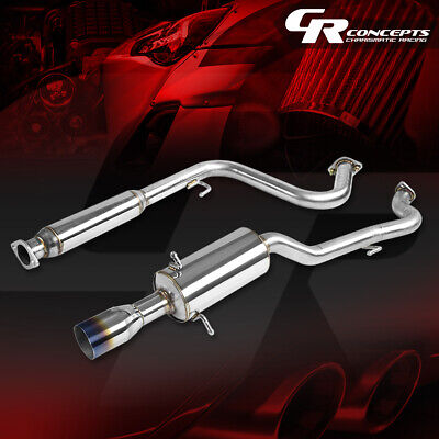 """FOR 05-10 COBALT 2.2L STAINLESS CAT BACK EXHAUST PIPING 3.5/""""MUFFLER BURNT TIP"""