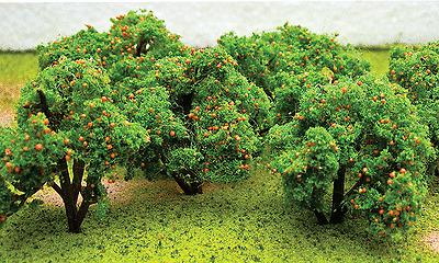 JTT 6 pack Orange trees in HO 1:87 scale 92121 train diorama scenery