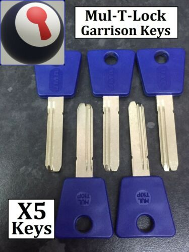 Mul-T-Lock Garrison Keys x 5 Inc 1st Class Recorded P/&P JMA Copies