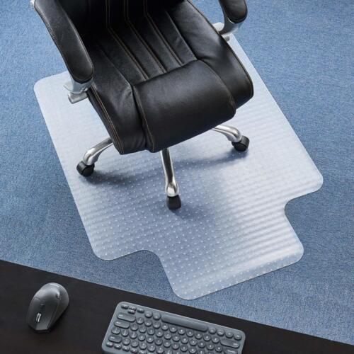 Office Chair Mat For Carpet Computer Desk Floor Grip Under Rolling Wheels Lipped
