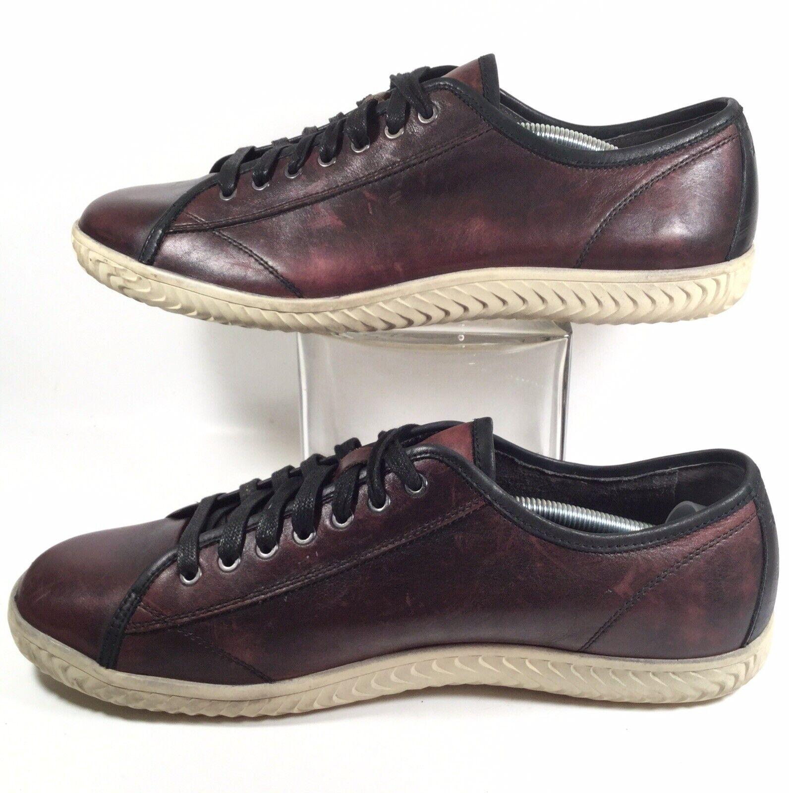 John Varvatos Hattan Con Cordones Zapatos tenis de moda de cuero de becerro US 12