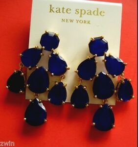 Kate spade swinging from chandelier earrings pierced dangle navy image is loading kate spade swinging from chandelier earrings pierced dangle aloadofball Image collections