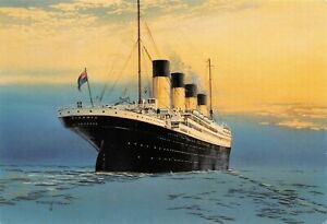 Art-Postcard-of-The-Titanic-by-Artist-Timothy-O-039-Brien-Rembrandt-No-97-2V