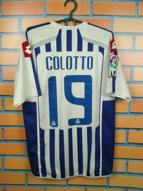 Colotto Deportivo La Coruna Jersey 2010 2011 Home M Shirt Lotto Football Soccer