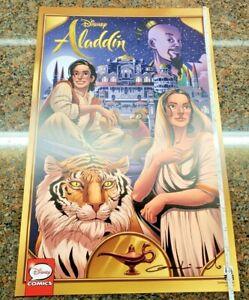 Disney-Comics-Aladdin-Poster-SIGNED-Diego-Galindo-Dark-Horse-Movie-Genie-Jasmine