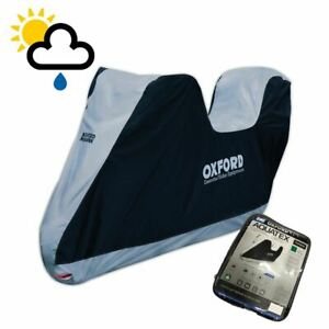 PIAGGIO-MP3-LT-300-Oxford-Motorcycle-Top-Box-Cover-Waterproof-White-Black-CV203