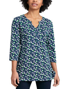 SEASALT-NAVY-Fern-Flower-Night-Tunic-Dress-Top-Organic-Cotton-RRP-45
