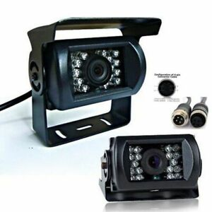1080P-IR-vision-nocturna-coche-trasera-vista-camara-reversa-aparcamiento-para-Camion-Bus-de-12V-24V