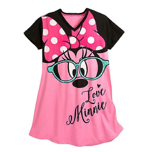 NWT Disney Store Mickey and Minnie Valentine Nightshirt Nightgown for Women
