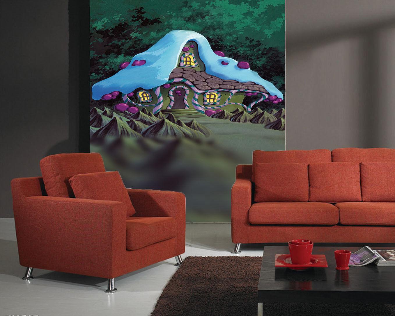 3D  Süß Sahne Haus 975 Tapete Wandgemälde Tapete Tapeten Bild Familie DE Summer