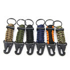 Paracord Survival Lanyard Keychain Carabiner With Clip Hook Flint Fire Starter