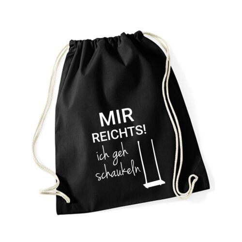 """Baumwoll Turnbeutel mit Spruch Motiv /"""" schaukeln /"""" Hipster Jute Tasche Gym Bag"""