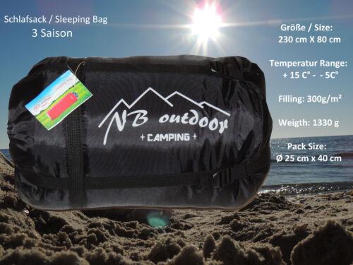 Saco de dormir momia Saco de dormir para camping carpa /& bike de NB outdoor hasta 10 ° C nuevo