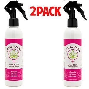 FEMAJUANA - (2) Pack 8 oz Spray Bottle - Seed Feminization FREE SHIPPING!