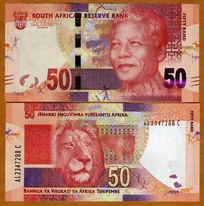South-Africa-ND-2012-Nelson-Mandela-50-Rand-Lion-image-UNCIRCULATED-P-NEW
